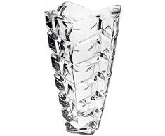 "Vase, vase en cristal, collection ""CHOPIN"", 25 cm, fait à main, transparent, cristal, style moderne (GERMAN CRYSTAL powered by CRISTALICA)"