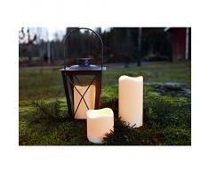Star Bougie plastique LED Avec minuteur, LED ambre, à piles usage extérieur, boîte à fenêtre, 15 x 7,5 cm