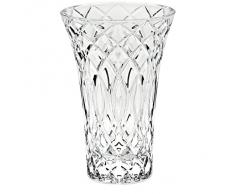"Vase, vase en cristal, collection ""LINES"", 20 cm, fait à main, transparent, cristal, style moderne (GERMAN CRYSTAL powered by CRISTALICA)"