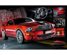 1art1 Poster Easton Roter Mustang 91 x 61 cm