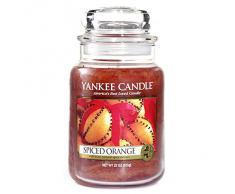 Yankee Candle bougie jarre parfumée, grande taille, Orange épicée, jusquà 150heures de combustion