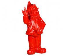 Stoobz PP 005RO 15 x 12 x 32 cm Nain de Jardin malicieux pour la Maison et Le Jardin – Rouge