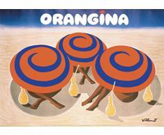 1art1 Bernard Villemot Poster Reproduction - Orangina Affiche Publicitaire (70 x 50 cm)