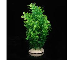 SODIAL (R)Verte Plante Artificielle Aquatique en Plastique Vert Deco pour Aquarium