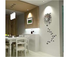 ufengke® 12 Pcs 3D Papillons Stickers Muraux Design de Mode Bricolage Papillon Art Autocollants Artisanat Décoration de La Maison, Violet