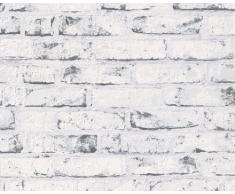 A.S. Création Papier peint intissé New England beige grisaille 10,05 m x 0,53 m 907837