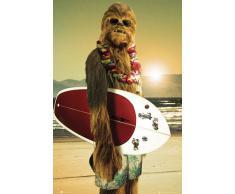 1art1 59791 Star Wars Poster Chewie Surfeur 91 x 61 cm