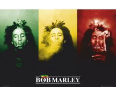 1art1 41131 Poster Bob Marley Drapeau 91 x 61 cm