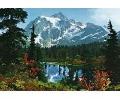 Posters: Montagnes Rocheuses Papier Peint Photo/Poster - Le Matin A La Montagne 8 Parties (368 x 254 cm)