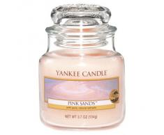 Yankee Candle Bougie Parfumée Sable rose, rose, Small