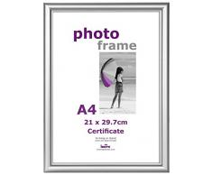 Innova PI04222 Cadre Photo pour Certificat A4 Argent