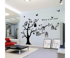 Immense Photo Noir Photo Frame Memory Vine Tree Branch amovible Decor Wall Sticker Decal Mural 210cm(W)*170cm(H)