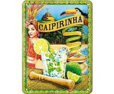 Nostalgic-Art Affiche métallique publicitaire Caipirinha 15 x 20 cm