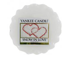 Yankee Candle 1249722E Bougie Tartelette en Cire LAmour dHiver Blanc