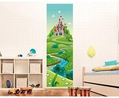 Posters: Monde Des Enfants Papier Peint Photo Bande Murale Autocollante - Le Chemin Vers Mon Chà ¢teau (250 x 79 cm)