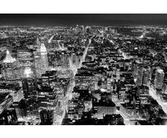 Poster 117 mural géant 366 x 254 cm New York vu de l'Empire State Bulding par Henri Silberman Noir et Blanc en 8 parties grandes dimensions