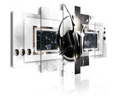 Impression sur toile 200x100 cm - Grand format - XXL - 5 Parties - Image sur toile - Images - Photo - Tableau - motif moderne - Décoration - pret a accrocher - Abstraction h-A-0001-b-m 200x100 cm B&D XXL