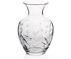 "Vase, vase de cristal, collection ""MAIGLÖCKCHEN"", transparent, hauteur 24 cm, cristal, style moderne (GERMAN CRYSTAL powered by CRISTALICA)"