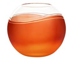 "Vase, vase en cristal, collection ""ELEMENTS"", 15 cm, faits main, orange/red (GERMAN CRYSTAL powered by CRISTALICA)"