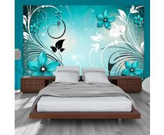 Papier peint intissé 350x245 - 3 couleurs au choix - Top vente - Papier peint - Tableaux muraux déco XXL - fleurs Ornement b-A-0044-a-c
