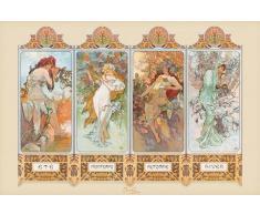 1art1 39479 Poster Alphonse Mucha 4 Saisons 91 x 61 cm