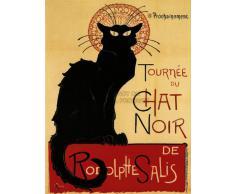 Bumblebeaver Black Cat Chat Noir Rodolphe SALIS Paris France Vintage Poster Art Print 12x16 inch 30x40cm Noir Ancien Affiche Impression d'art