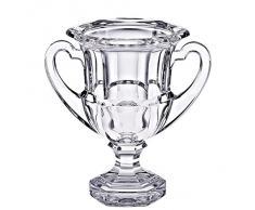 """Vase sur pied, vase en verre, cristal, collection """"OPERA"""", 18,5 cm, fait à main, transparent (GERMAN CRYSTAL powered by CRISTALICA)"""