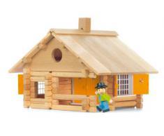 JeuJura - Jouet en bois - Maison En Rondins - 135 Pieces