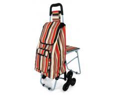 Lifemax - Chariot de course à 6 roues avec siège