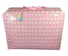Super grand sac de rangement de 115 litres. Flamants roses modèle. Toy sac, le lavage et le sac à linge