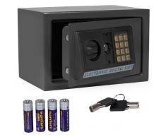 TecTake Coffre-fort avec serrure électronique Porte 20 X 31 X 22cm + 4 piles