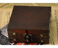 niceeshop(TM) Rétro Boîte en Bois à Bijoux avec Style Antique, Brune