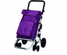 Chariot de course 4 roues Go Plus Violet Prune Aide à la marche, Chariot de course à pousser, stable, capacité 54L, pliable, 3 coloris