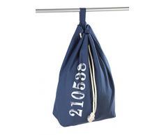 Wenko 62041100 Sailor Sac à Linge Bleu Dimensions 40,0 x 30,0 x 4,0 cm