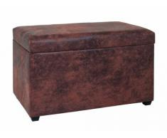 Haku Möbel 30886 Coffre de Rangement MDF/Simili Cuir Marron 40 x 65 x 42 cm