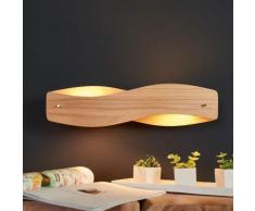 Lampada LED da parete in legno Lian dimmerabile