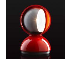 """Lampada da tavolo di design Eclisse, rossa"""