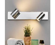 Applique per bagno Dejan a 2 luci cromo