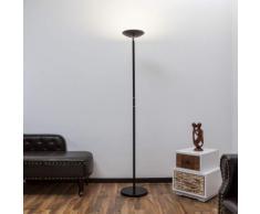 Malea - lampada LED da terra nera