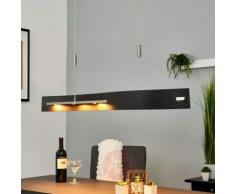Lampada sospesa in legno a LED Talu, alt. regol.