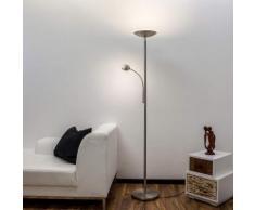 Malea - lampada LED da terra, braccio di lettura