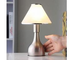 Ellen - lampada da comodino in vetro e metallo