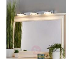Applique per bagno a LED Raphaela a tre luci