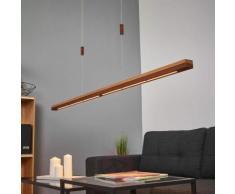 Lampada a sospensione LED Elna ruggine e legno