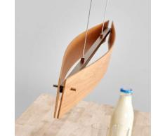 Lampada sospesa LED Malu in legno, quercia nata.