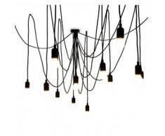 SELETTI lampada a sospensione MAMAN a 14 LED (Dimmerabile con lampadine satinate - Silicone, plastica e metallo)