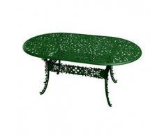 SELETTI tavolo ovale INDUSTRY GARDEN (Verde - Alluminio)
