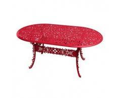 SELETTI tavolo ovale INDUSTRY GARDEN (Rosso - Alluminio)