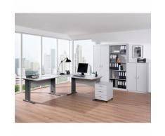 Set scrivania e arredo ufficio Bilo XL in grigio