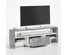 Mobile porta TV Mia in effetto cemento e bianco opaco - ULTIMI PEZZI
